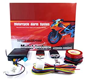 Basic Motorcycle Alarm Security System with 2 Remote Controls & Siren