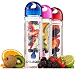 #1 Fruit Infused Water Bottle + Silic...