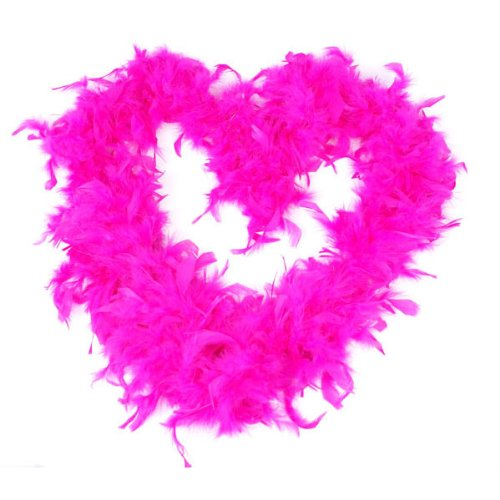 BestOfferBuy 2M Feather Boas Fluffy Party Decoration Costume Dress Up Prop Magenta