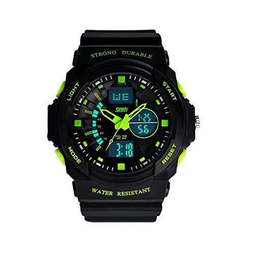 Dayan Fashion Multi Function Waterproof Digital Lcd Alarm Date Mens Military Sport Wrist Led Watch Green