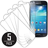 MPERO Collection 5 Pack of Clear Screen Protectors for Samsung Galaxy S4 Mini