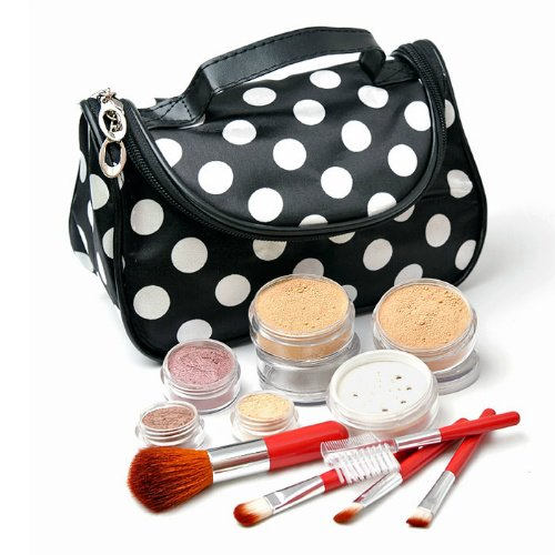 IQ Natural 12pc XL Bare Sheer Minerals Makeup Set with Cosmetic Bag!