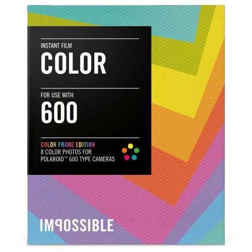 Impossible PRD2959 Color Film for Polaroid 600-Type Camera Frame, Model: PRD2959