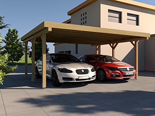 carport flachdach silverstone i 500x500 cm bausatz flachdachcarport. Black Bedroom Furniture Sets. Home Design Ideas