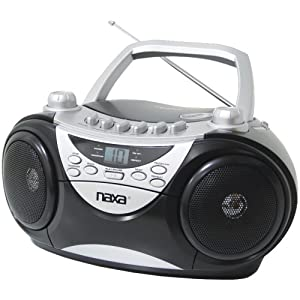 Naxa Npb241 Portable Cd Player Am/fm Radio & Cassette Player/recorder