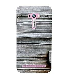 PrintVisa 3D Wooden Pattern 3D Hard Polycarbonate Designer Back Case Cover for Asus Zenfone Selfie