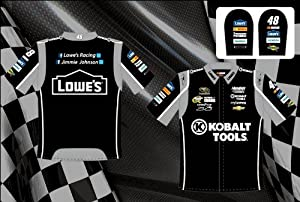 Jimmie Johnson Kobalt Tools Mens Embroidered Nascar Pit Crew Shirt by RacingGifts
