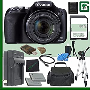 Canon PowerShot SX530 HS Digital Camera + 64GB Green's Camera Bundle 7