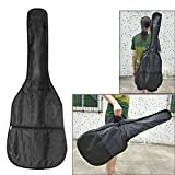 38 Inch 420D Oxford Cloth Electric Acoustic Wooden Guitar Bag Straps Case With Zippered Pocket Design Black