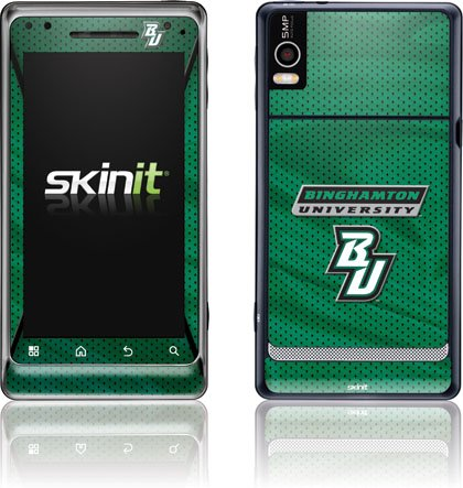 Binghamton University - Binghamton University BU - Motorola Droid 2 - Skinit Skin keep calm and carry on distressed motorola droid 2 skinit skin