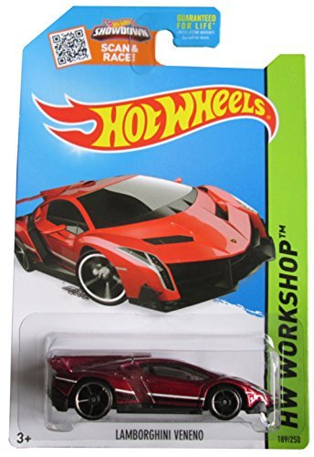Hot Wheels, 2015 HW Workshop, Lamborghini Veneno [Maroon] Die-Cast Vehicle #189/250 - 1