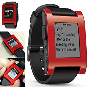 Pebble (RED) - The e-paper watch for Android and iPhone