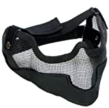 Matrix Iron Face Carbon Steel Striker Gen2 Metal Mesh Lower Half Mask - Black
