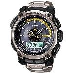 [カシオ]CASIO 腕時計 PROTREK プロトレック PRW-5000T-7 チタン素材 世界6局電波受信 タフソーラーブラック×シルバー メンズ [並行輸入品]
