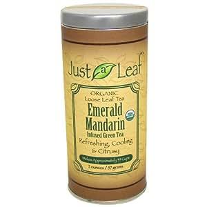 Just a Leaf Organic Tea Emerald Mandarin Infused Green Tea 2 oz (57 g)