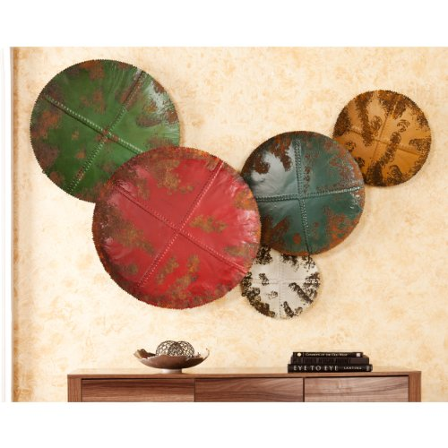 Southern Enterprises Sante Fe Metal Sphere 5-Piece Wall Sculpture Set
