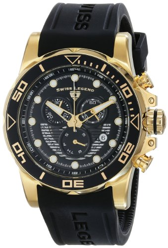 Swiss Legend Men's 21368-YG-01 Avalanche Analog Display Swiss Quartz Black Watch