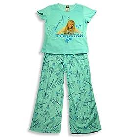 Hannah Montana by Disney - Hannah Montana Short Sleeve Pajamas, Aqua