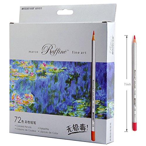 video review 72 color raffine marco fine art colored pencils drawing pencils for sketch secret garden coloring book not included best deals - Best Colored Pencils For Coloring Books