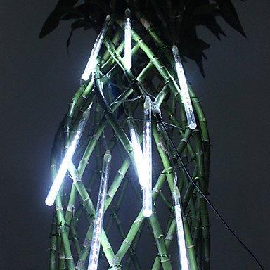Get 20Cm Festival Decoration White Led Meteor Rain Lights For Christmas Party (8-Pack, 110-220V)