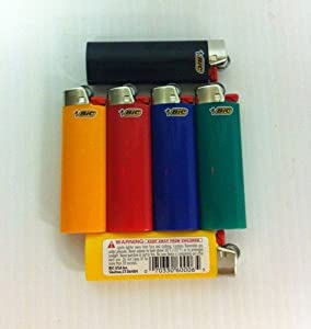 BIC Disposable Classic Lighter With Child Guard. Sold As A SIX Pack