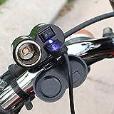 MyArmor バイク用 電源 スイッチ付き 防水 USB電源 充電器 USBポート 電源ポート バイク ハンドル 用 シガーソケット電源 汎用取り付けセット USBチャージャー (¥ 1,390)