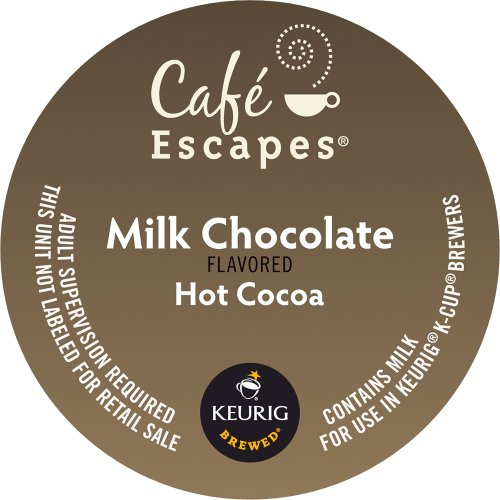 Keurig, Cafe Escapes, Milk Chocolate Hot Cocoa, K-Cup Packs, 50 Count front-639618