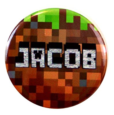 Jacob Name Tag - Inspired By Minecraft from Henry the Buttonsmith