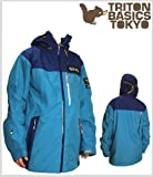 13-14 SNOW WEAR �w TRITON �x THE BASIC JACKET D-EMARALD�~L-NAVY �yL�z�X�m�[�{�[�h �E�F�A �g���C�g��