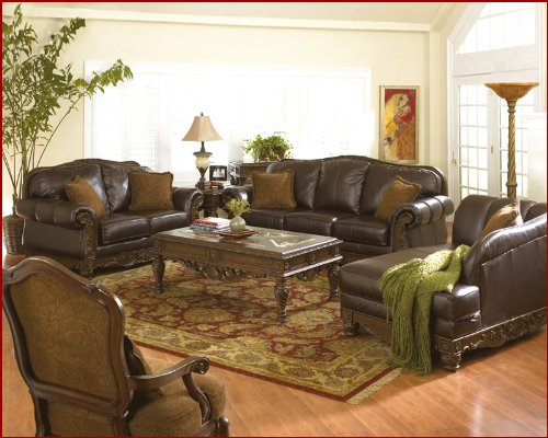 traditional leather sofa