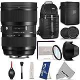 Sigma 24-35mm f 2 DG HSM Art Lens for NIKON F DSLR Cameras w Essential Bundle - Including: DSLR Camera Sling Backpack - Altura Photo Slim MCUV - Altura Photo Cleaning Kit