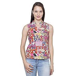 LEBE Women's Multicolor Sleeveless Top