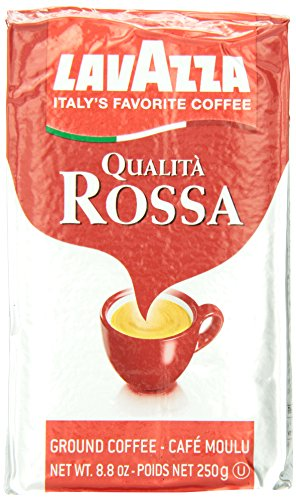 Lavazza Qualita Rossa - Caffe Ground Espresso, 8.8-Ounce Bricks (Pack of 4)