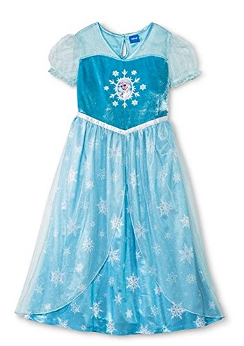 Disney Frozen Little Girls Elsa Dress Up Nightgown (Xs (4/5)) front-91319
