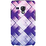 For Samsung Galaxy S3 Mini I8190 :: Samsung I8190 Galaxy S III Mini :: Samsung I8190N Galaxy S III Mini Purple Pixel Background ( Purple Pixel Background, Purple Background, Pattern ) Printed Designer Back Case Cover By FashionCops