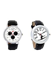 Gledati Men's White Dial And Foster's Women's White Dial Analog Watch Combo_ADCOMB0001855