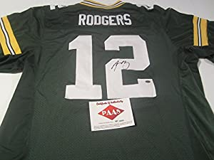 Aaron Rodgers Green Bay Packers Signed Autographed Jersey Authentic Certified Coa
