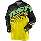 MSR Racing Axxis Men's Off-Road Motorcycle Jersey - Black/Yellow/Green / X-Large