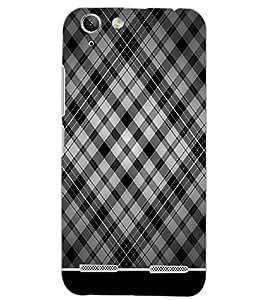 PrintDhaba CHECKS PATTERN D-6334 Back Case Cover for LENOVO A6020a46 (Multi-Coloured)