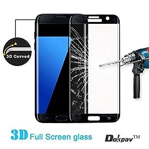 Dokpav® Ultra Slim Samsung Galaxy S7 Edge 3D Tempered Glass Full Screen Protector, Protective Film Anti-scratch Anti-fingerprint for S7 Edge by Dokpav