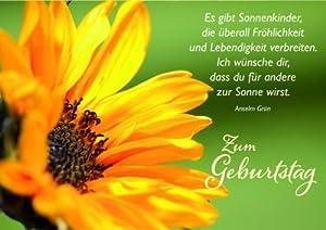 (Sonnenblume) mit Text von Anselm Grün: Amazon.de