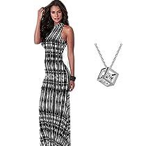 OVERMAL Women BOHO Long Maxi Beach Dresses Sundress (ASIA XL=US 10)