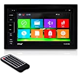 Pyle PLDNV66B 6.5-Inch Video Headunit Receiver GPS Navigation Bluetooth Wireless Streaming CD/DVD Player Double DIN