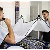 Beard Apron For Man Shaving & Hair Clippings Catcher Grooming Cape Apron Keep Sink Clean - White (Color: White)