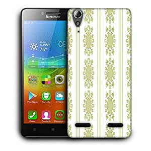 Snoogg Lite Green Pattern Printed Protective Phone Back Case Cover For Lenovo A6000