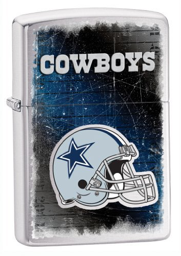 Zippo NFL Cowboys Lighter, Silver, 5 1/2 x 3 1/2cm at Amazon.com