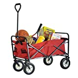 Sandusky Lee FCW3622 Red Polyester Fabric Light Duty Folding Wagon with Solid Steel Frame, 150 lbs Capacity, 36 Length x 22 Width x 25-1/2 Height
