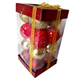 Luxury Gifts By Nikki Synthetic Red Christmas Decoration Balls In A Box