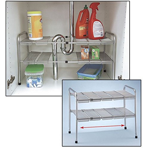 Best under kitchen sink organizer shelf or shelves under for Off the shelf kitchen units