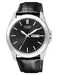 Citizen Quartz Leather Strap Black